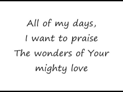 Shout To The Lord - Darlene Zschech [lyrics] video