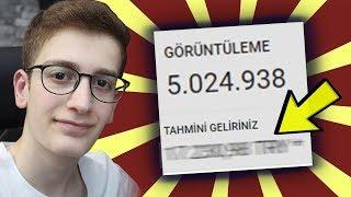 5.000.000 İZLENMEYE KAÇ TL KAZANDIM? - YOUTUBE PARA KAZANMA