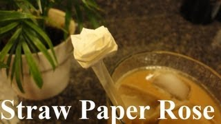 Origami Straw Paper Rose / Flower (simple Directions)