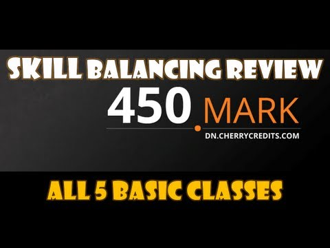 Dragon Nest SEA -  450 Mark Skill Balancing Review ; All 5 Basic Classes ~!