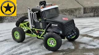 BRUDER TRUCKS RC RACE on ice with BRUDER TOYS for CHILDREN