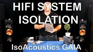 HiFi System Isolation Closer Look @ IsoAcoustics GAIA & Plinth Design CeraDisc Home Cinema speaker