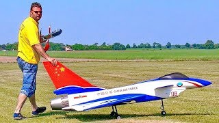 CHINA AIR FORCE RC VECTOR THRUST TURBINE MODEL JET CARF CHENGDU J-10 FLIGHT DEMONSTRATION