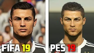 FIFA 19 vs PES 2019 Juventus Player Faces Comparison