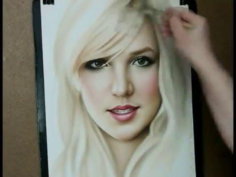 Speed painting portrait Britney Spears Music Videos