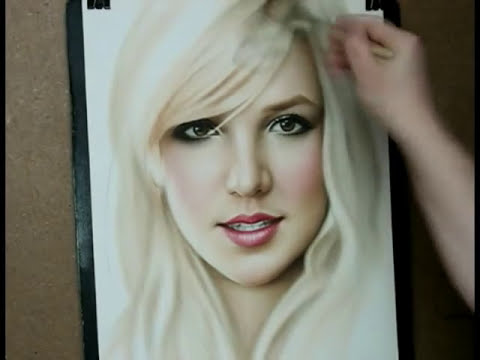 Speed painting portrait Britney Spears