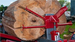 EXTREME Fastest Firewood Processing Machines, Largest Wood Cutting Chainsaw Machine