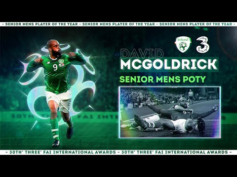 David McGoldrick named 3 FAI Men's Senior International Player of the Year 2019