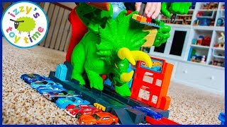 SMASHIN' TRICERATOPS! Hot Wheels Cars for Kids! New for 2019