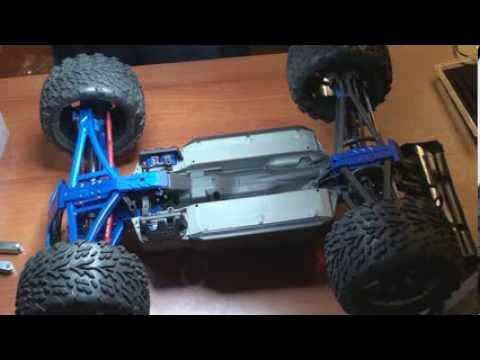 E-Revo Brushless - Replacing Front Arms, Pushrods, Steering Knuckles, Bulkheads, and Skid Plates