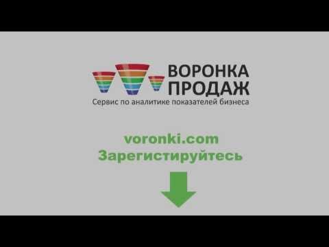 Воронка продаж - веб сервис для контроля показателей бизнеса voronki.com
