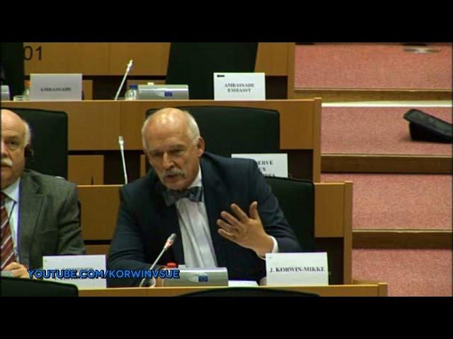 [LEKTOR PL] Janusz Korwin-Mikke o sytuacji w Kosowie - Komisja Spraw Zagranicznych 09.01.2017
