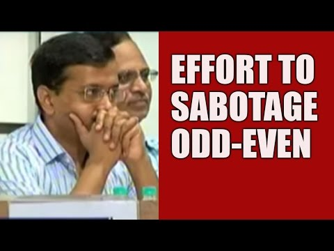 BJP Trying To Sabotage Odd-Even; AAP