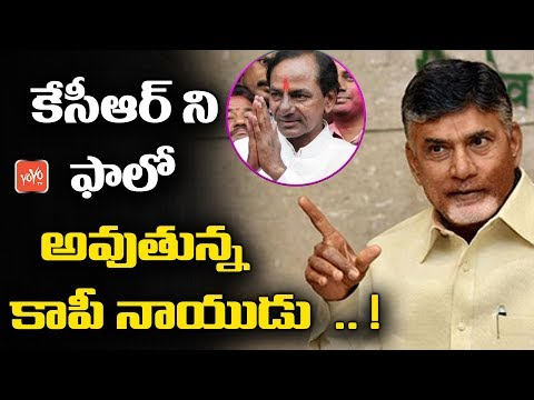 Chandrababu Naidu Copying KCR Plans For Andhra Elections | AP Politics | Latest News | YOYO TV