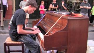 Incredible Boy Plays Street Piano in New Orleans