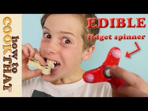 Best Fidget Spinner TRICKS  how to make EDIBLE fidget spinner