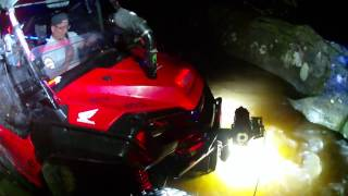 HONDA PIONEER TAKEOVER GETS NUTS ON NIGHT TIME CREEK RIDE! VID01001