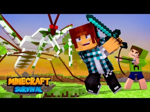 Minecraft Survival #09 - MOSQUITO DA DENGUE GIGANTE !!