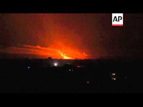 Israeli airstrikes on Gaza continue into the night