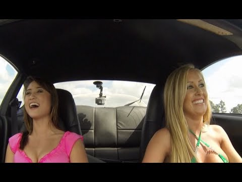 Jessica Barton takes Tiva for a ride in a 1000hp Toyota Supra