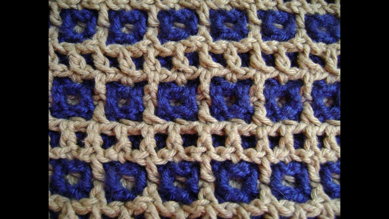 Crochet Market Bag. Tote Netbag in Mosaic Interlocking