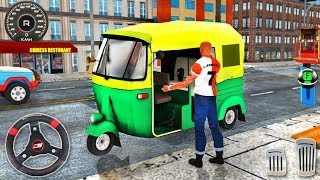 City Tuk Tuk Driving Simulator - Auto Rickshaw Offroad Mountain Driver - Android GamePlay