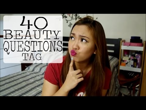40 BEAUTY QUESTIONS TAG! | Tagalog