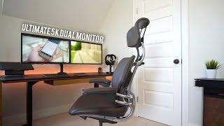 Ultimate Macbook Pro 5K Dual Monitor Desk Setup Tour (2017)
