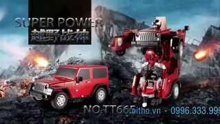 Đồ chơi trẻ em - robot biến hình Transformer điều khiển từ xa