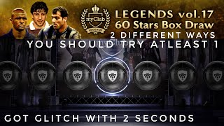 Black ball trick in Legends vol.17 60 stars box draw | #pes2018