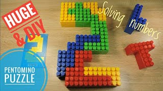 Pentomino Numbers 0-9 Huge DIY pentominoes Educational puzzle game for kids