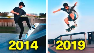MY 5+ YEARS OF SKATEBOARDING PROGRESSION!