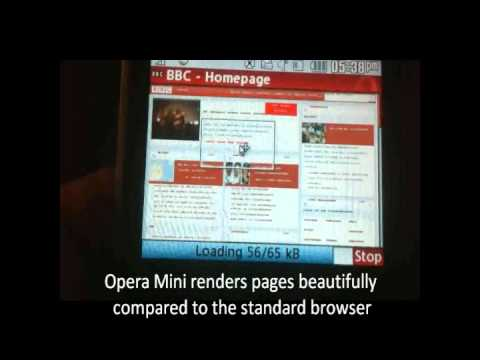 Straight Talk / Net10 LG 900g Web Browsing with Opera Mini