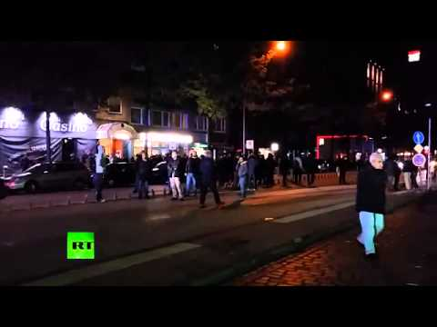 Kurds vs pro ISIS radicals  Hamburg clashes spark massive police presence