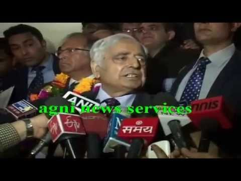 SRINAGAR ... MUFTI MOHAMMED SAYEED MEETS PRESS