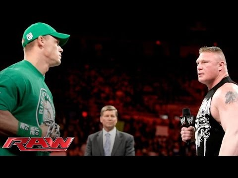 John Cena and Brock Lesnar sign the contract for their Extreme Rules Match: Raw, April 23, 2012 thumbnail