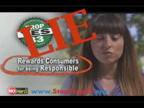 Consumer Alert: Big Lies Behind Insurer-Backed Prop 33 TV Ads