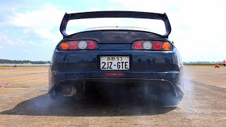Toyota Supra 1300HP Turbo Launch Control Acceleration & Sound