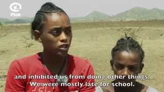 Meet Dasash and her friend - Lalibela Water Project Beneficiaries