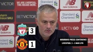 Mourinho Press Conference (Liverpool 3-1 Man Utd)