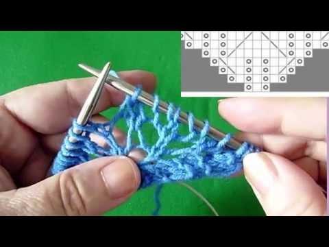 Уроки вязания шали - видео