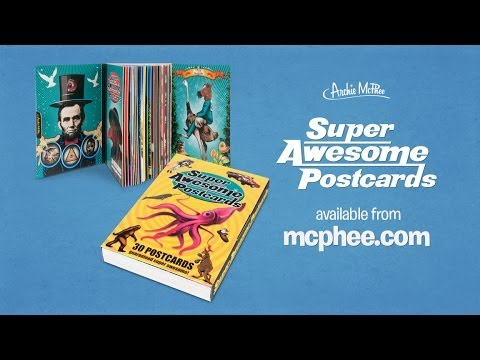 Super Awesome Postcard Book - Archie McPhee