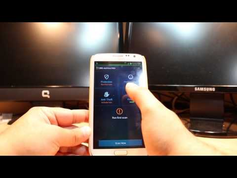 How to use Avg Antivirus at Samsung Galaxy Note 2, S3, S4