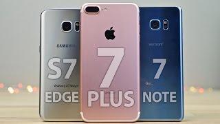 iPhone 7 Plus vs Samsung Galaxy S7 Edge & Note 7 Full Comparison!