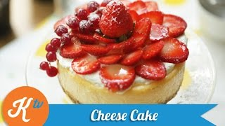 Resep Kue Keju Stroberi (Strawberry Cheese Cake Recipe Video) | JANE SUSANTO