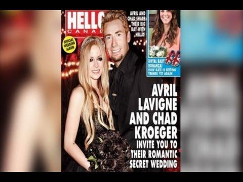 Avril Lavigne se casa vestida de gótica