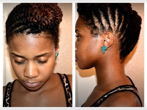 How To: Two Strand Flat Twist Updo (Protective Style)