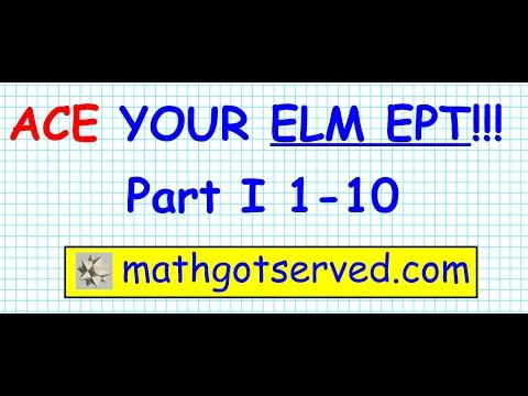 ELM EAP EPT math Test practice questions part I 1-10