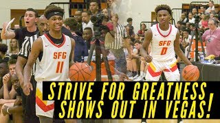 Dior Johnson leads Strive For Greatness to win inside PACKED gym!