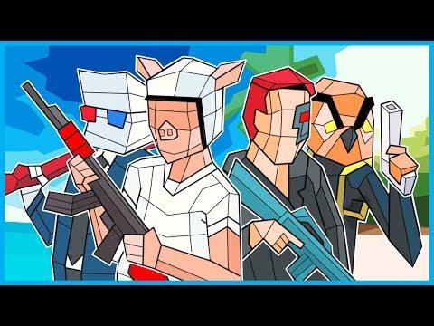 WILDCAT & Terroriser vs. Vanoss & SMii7Y in Pixel CS:GO! (Shooty Squad Funny Moments!)